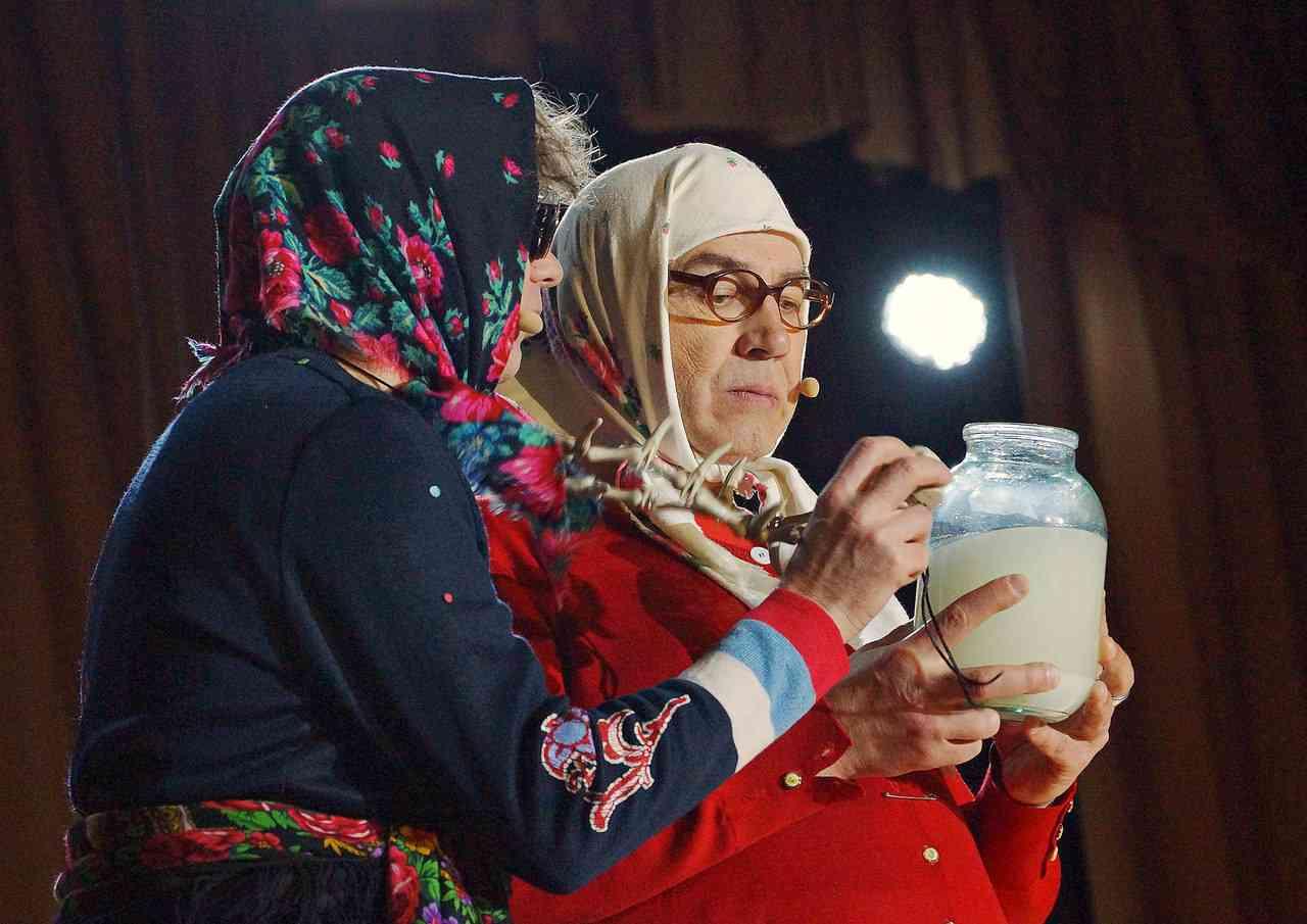Сценка поздравление с юбилеем от новых русских бабок женщине фото 940