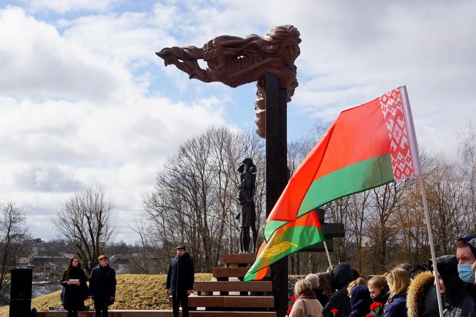 Митинг, посвященный Дню памяти жертв Хатыни, у памятника «Детям войны», 22 марта 2021г.
